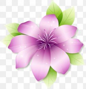 Large Pink Flower Clipart - Flower Clip Art PNG