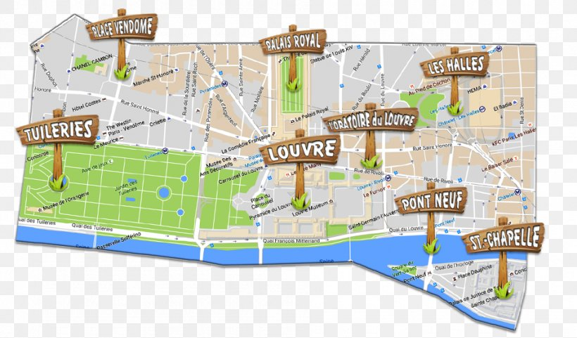 Tuileries Garden Louvre Museum Map Conciergerie Jardin Du