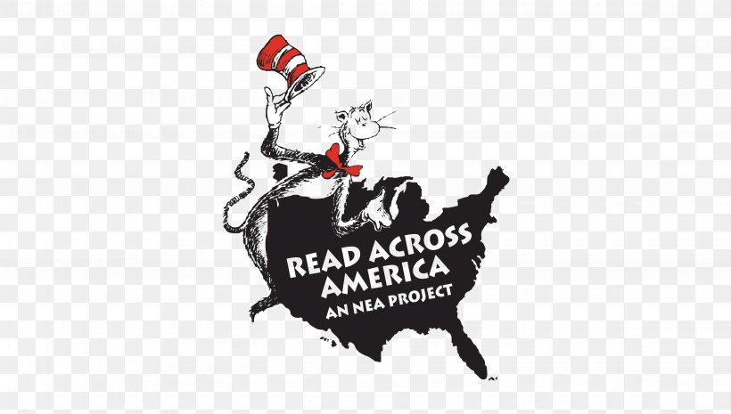 The Cat In The Hat Washington, D.C. Read Across America National Education Association Reading, PNG, 4500x2555px, Cat In The Hat, Association Of American Educators, Black And White, Book, Brand Download Free