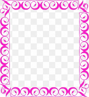 Girly Border - Decorative Borders Borders And Frames Free Content Clip Art PNG