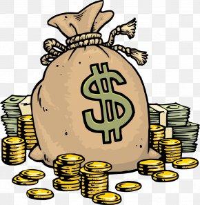 Money Bag - Cartoon Money Bag Clip Art PNG