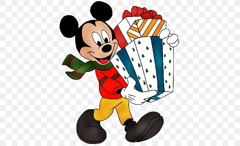 Mickey Mouse Minnie Mouse Christmas Clip Art, PNG ...