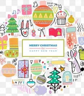 Christmas Cartoon Hand Painted Illustration - Christmas Cartoon Illustration PNG