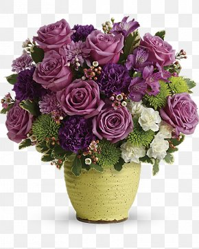 Glazed Vase - Flower Bouquet Carnation Purple Floristry PNG