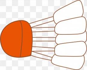 Hand Painted Orange Badminton - Badminton Net Designer PNG