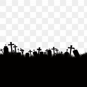 Halloween Graves - Cemetery Ghost Stock Photography PNG