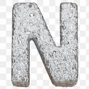 Silver Metal Font Design - Letter Writing Typeface Font PNG