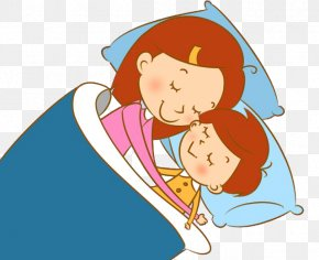 Baby Mother With Baby Sleeping Picture Material - Mother Sleep PNG