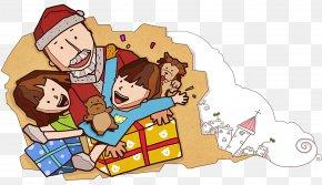 Santa Claus Presents - Santa Claus Christmas Gift Clip Art PNG