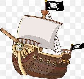 Cartoon Pirate Ship - Cartoon Ship Piracy Clip Art PNG