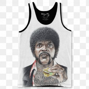 Samuel L Jackson - Samuel L. Jackson Pulp Fiction T-shirt Jules Winnfield Big Kahuna Burger PNG