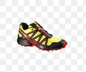 Men's Running Shoes - Shoe Trail Running Salomon Group Sneakers Gold PNG