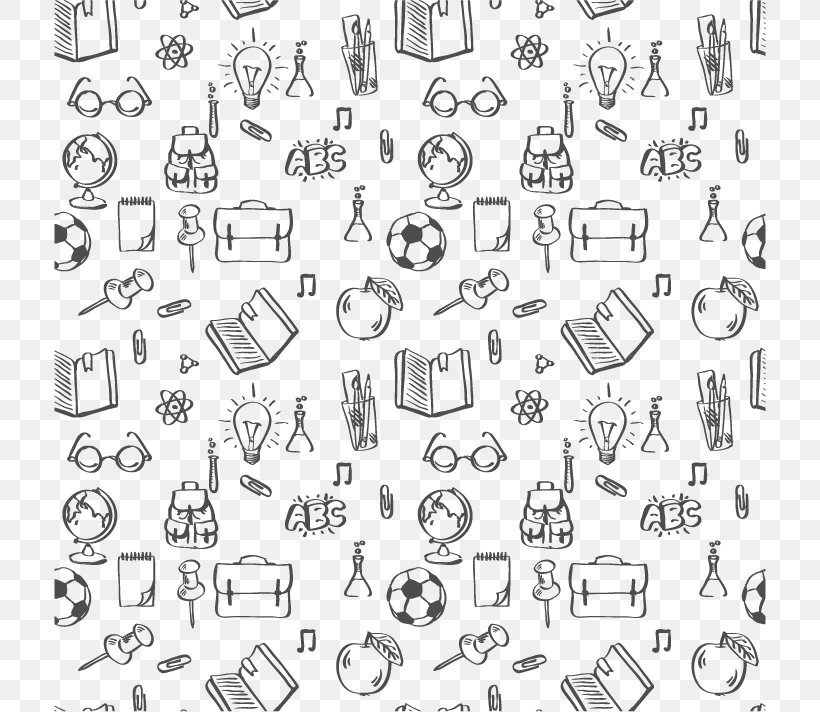 Student School Supplies Png 712x712px Student Area Black And White Drawing Education Download Free
