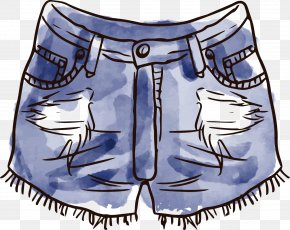 Jeans Nordic Jewelry - Clothing Watercolor Painting Boho-chic PNG