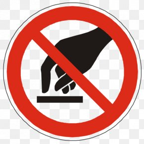 Do Not Touch Warning Icon - Prohibition In The United States Sign Pictogram Label Clip Art PNG