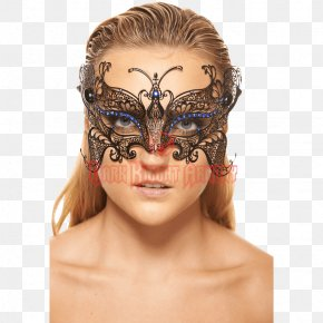 Mask - Latex Mask Butterfly Masquerade Ball Costume PNG