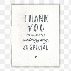 Thank You - Greeting & Note Cards Letter Of Thanks Wedding Paper PNG