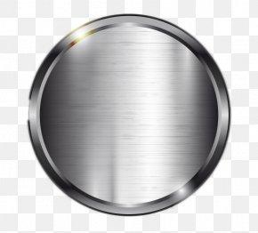Silver Circular Metal - Metal Silver Computer File PNG
