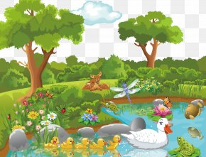Jungle Fairy Tales - Theatrical Scenery Cartoon Nature Clip Art PNG