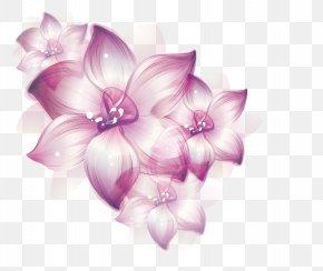 Dream Purple Flowers - Floral Design Flower Purple PNG