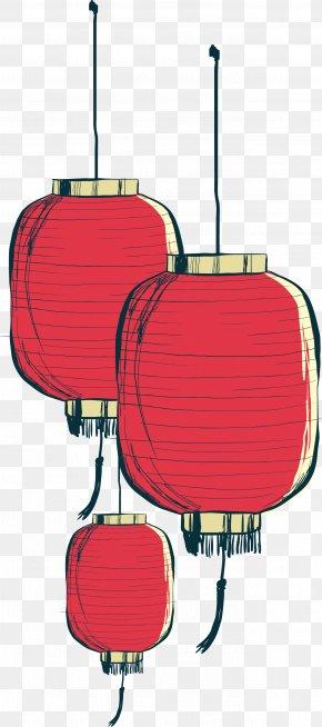 Hand Painted Chinese Lantern - Paper Lantern PNG