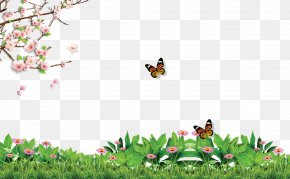 Spring Poster Background Effect - Poster Illustration PNG