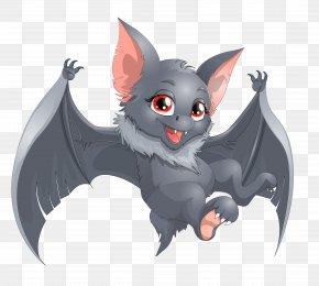 Transparent Halloween Bat Cartoon Clipart - Bat Cartoon Clip Art PNG
