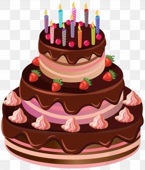 Birthday Cake Clip Art Image - Birthday Cake Chocolate Cake Torte PNG