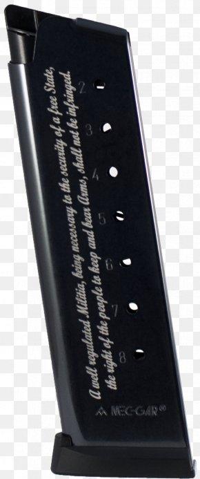Laser Gun - Magazine .45 ACP Engraving Firearm Pistol PNG