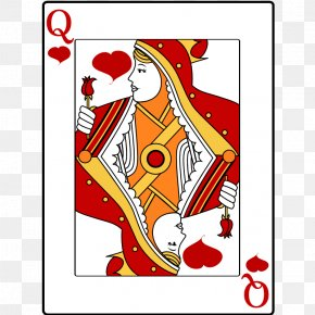 People Playing Cards - Queen Of Hearts Playing Card Clip Art PNG