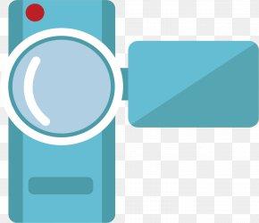 Vector Material Blue Camera - Blue Video Camera PNG