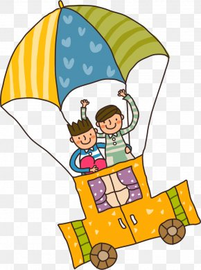 Hot Air Balloon Children - Child Cartoon Illustration PNG