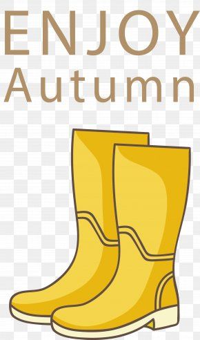 Yellow Boots - Designer Clip Art PNG