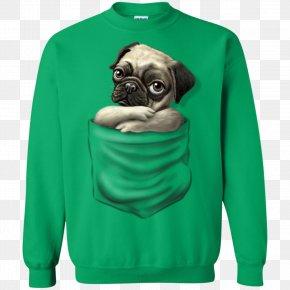 T-shirt - Hoodie T-shirt Pug Sweater PNG