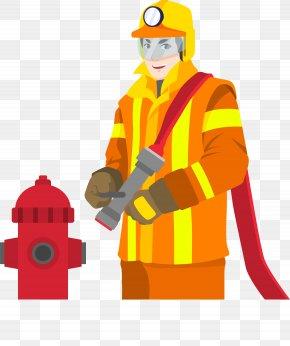 Hero Firefighter - Firefighter Euclidean Vector Fire Safety PNG