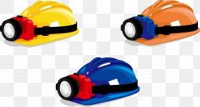 Vector Miners Helmet - Helmet Plastic Yellow Hard Hat PNG