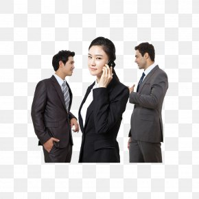 Business People Communicate With Phone - Business Loan PNG