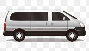 Cartoon Painted White Bread Commercial Vehicle Side - Compact Van Car PNG