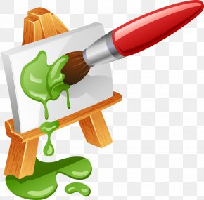 Pen - Easel Paintbrush Painting Royalty-free PNG
