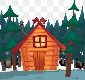 Woods Cabin - Log Cabin Cartoon Royalty-free Illustration PNG