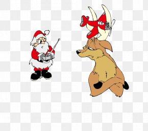Santa Claus And Reindeer Vector - Santa Clauss Reindeer Santa Clauss Reindeer Christmas PNG