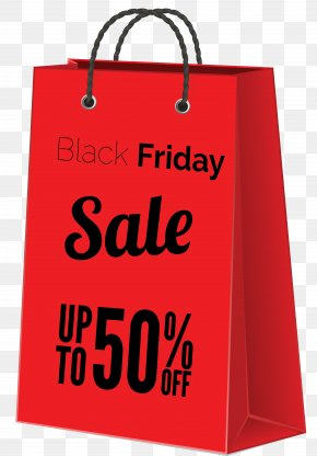 Black Friday Sale Red Bag Clipart Image - Black Friday Sales Clip Art PNG