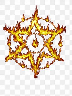 Ring Of Fire Hexagram - Hexagram Flame Illustration PNG