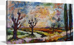 Watercolor Landscape - Acrylic Paint Modern Art Watercolor Painting Still Life PNG