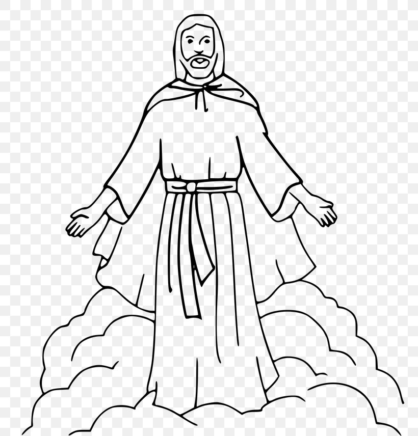 Coloring Book Depiction Of Jesus Bible Ascension Of Jesus Png 768x856px Coloring Book Arm Art Artwork