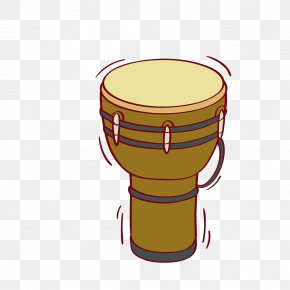 Hand-painted Waist Drums - Djembe Snare Drum Percussion Illustration PNG