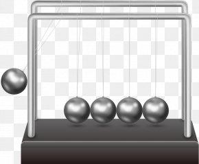 Vector Round Iron Ball - Euclidean Vector Newtons Cradle Pendulum Clock PNG