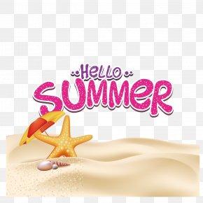 Umbrella Starfish - Summer Poster Illustration PNG