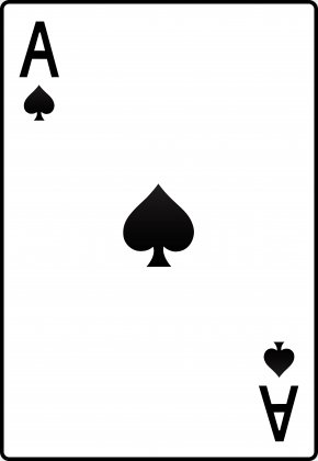 Deck Cliparts - Ace Of Spades Playing Card Ace Of Hearts Clip Art PNG