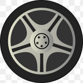 Simple Car Wheel Tire Rims Side View By Qubodup Just A Wheel Side - Car Wheel Rim Clip Art PNG